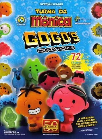 Gogo's Crazy Bones Turma da Mônica - Figurinhas