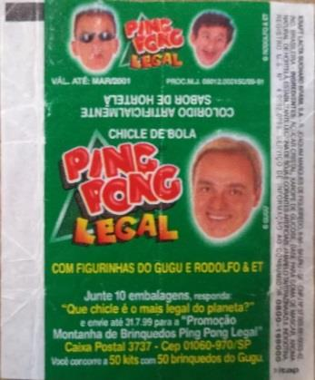 Chicle de Bola Ping Pong Legal
